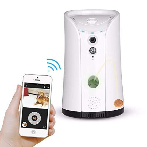 Yuany Telecamera,Telecamera, Dispenser per Cani con Fotocamera, WiFi per Animali Domestici con Audio bidirezionale e Visione Notturna