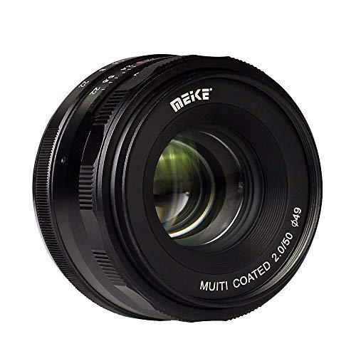 Meike MK-4/3-50-2.0 - Objetivo de Gran Apertura para Olympus Panasonic M4/3, Zoom APS-C, 50 mm, F2.0