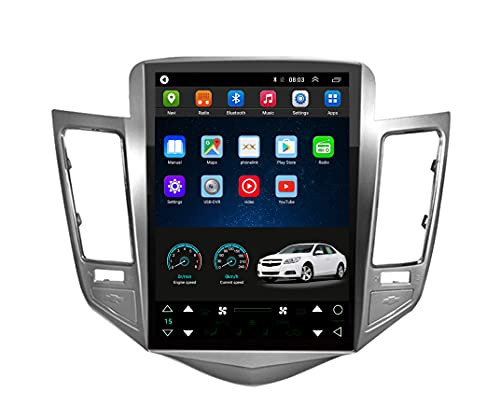 LUOWAN Android 10 Radio for Chevrolet Chevy Cruze 2009-2015 Sliver Frame 10.4inch Tesla Style Car in-Dash GPS Navigation System IPS Touch Screen 2+32GB Support Bluetooth WiFi Build-in Maps