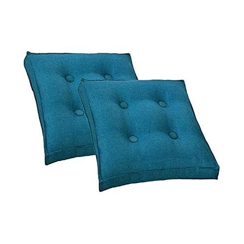 TYHZ Cojines para Sillas 2 Paquetes de Asiento Cojín/Silla Almohadillas de cojín para sillas de Comedor/Sillas de Oficina/Suelo de Madera, 40x40cm Cojines sillas Comedor