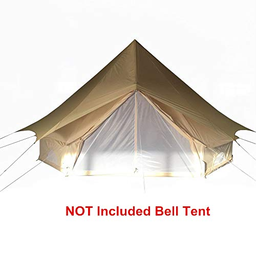 TentHome 4-Season Bell Tent Glamping Waterproof Cotton with Roof Stove Jack Hole for Camping Hiking Christmas Party Beige (Sunshade, 7M/23ft)