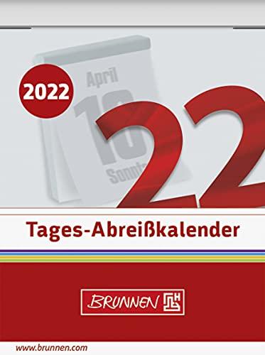 BRUNNEN 1070302002 Tages-Abreißkalender Nr. 2, 1 Seite = 1 Tag, 54 x 71 mm, Kalendarium 2022