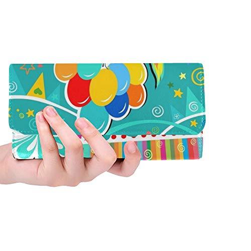 Einzigartige benutzerdefinierte Geburtstagskarte Feier Geschenkboxen Frauen dreifach gefaltete Brieftasche Lange Geldbörse Kreditkarteninhaber Fall Handtasche