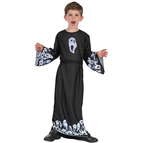 Costume bambini unisex Fantasma Scream Ghost, 8-10 anni