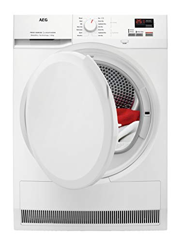 AEG T7DBK840N 7000 Series Freestanding Heat Pump Tumble Dryer, 8kg Load, White