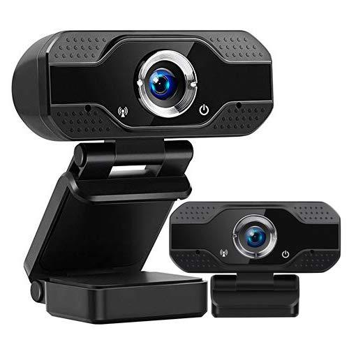 Nanssigy Webcam 1080P con Micrófono para PC, Full HD Cámara Web USB 2.0 con Enfoque Automático,2 Millones de píxeles,para Video,Conferencias,Recording,Live Streaming,Plug y Play,Portátil