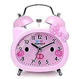 Plumeet Reloj Despertador con Campanas gemelas para Niños Marca Silencioso...