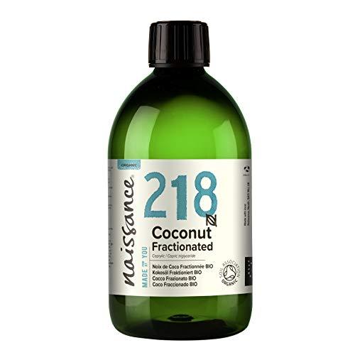 Naissance Aceite Vegetal de Coco Fraccionado BIO n. º 218-500ml - Puro, natural, vegano, sin hexano, no OGM - Ideal para aromaterapia, masajes y recetas artesanales.