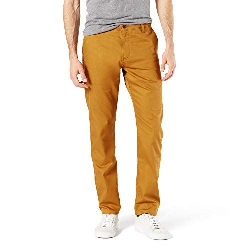 dockers Herren Slim Fit Original Khaki All Seasons Tech Pants D1 Freizeithosen, golden Brown, 38W / 29L