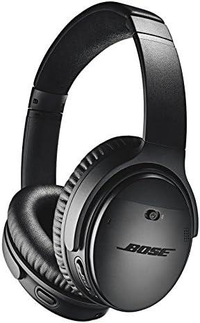 BOSE QuietComfort 35 (Series II) Wireless Headphones, Noise Cancelling – Black (Renewed)