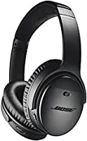 Bose QuietComfort 35 II Noise-Cancelling Wireless Bluetooth Headphones with Mic with Superior voice pickup- Black