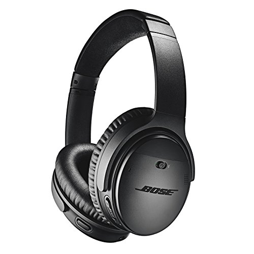 Bose QuietComfort 35 II Noise Cancelling Bluetooth Headphones - Cuffie Over-Ear Wireless con Microfono Integrato e Controllo Vocale Alexa, Nero