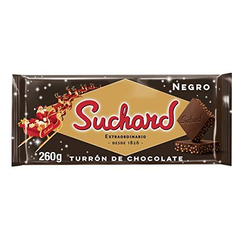 Suchard - Turrón Chocolate Negro, 260 g