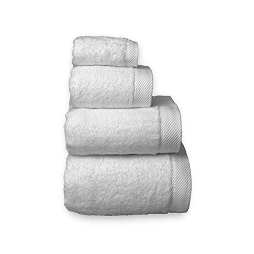 COTTONREUS Toalla Cottonplus 30% Bambú y 70% Algodón de 600 grms Color Blanco. Muy absorvente y Suave. Medida Lavabo 50 x 100 cm.