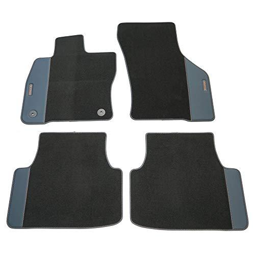 SEAT 5FG863011ELOE Alfombras de Tela Cupra Formentor Premium, 4 Alfombrillas Textiles, Color Negro