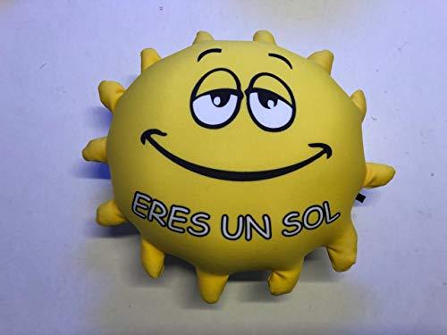 Cojín pequeño antiestres con Forma de Sol '' Eres un Sol ''