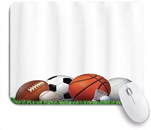Gaming Mouse Pad Rutschfeste Gummibasis, Sportgeräte auf Gras Sommer Outdoor-Aktivitäten Fitnessübung, für Computer Laptop Office Desk