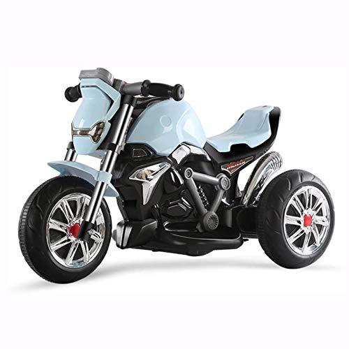 QHWJ Motocicleta eléctrica para niños, Triciclo al Aire Libre, música, iluminación LED, cumpleaños niños y niñas