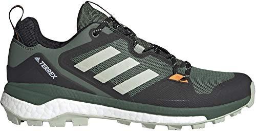 adidas Men's Terrex Skychaser 2.0 Hiking Shoe, Green Oxide/Halo Green/Crew Orange - 11.5
