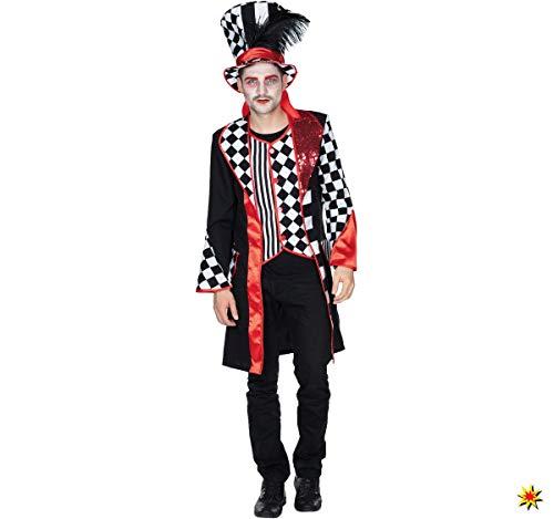 Herren Kostüm Pierrot Harlekin Frack Mantel Pedrolino schwarz weiß Fasching (56)