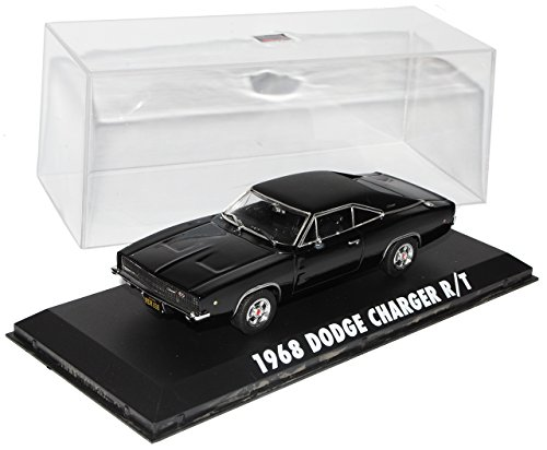 Greenlight Dodge Charger R/T Bullit Schwarz Coupe 1/43 Modell Auto