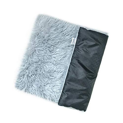 Petsupplies Soft Pet Dog Blanket Cat Bed Mat Long Plush Warm Double Layer Fluffy Deep Sleeping Cover For Small Medium Large Dogs Mattress-Light Grey-50X35X3Cm