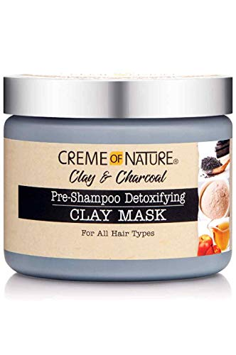 Creme of Nature Clay & Charcoal Pre Shampoo Detoxifying Clay Mask 326g