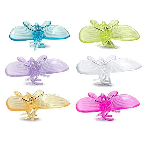30 piezas Clips de sujecioacute;n en forma de mariposa para