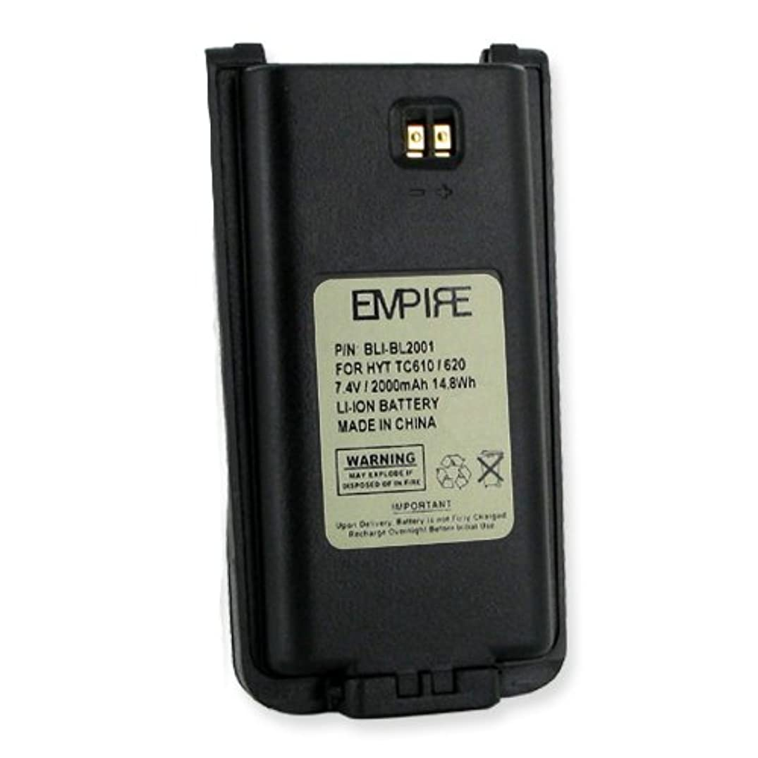 HYT TC-618 2-Way Radio Battery (Li-Ion 2000mAh) Rechargeable Battery - Replacement for HYT BL2001