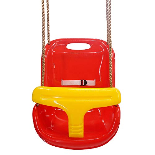 Sale!! Tidyard High Back Infant Swing Wide Seat Belt Toddler Child Kid Outdoor Play Red Swings