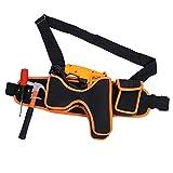Bolsa de herramientas para taladro eléctrico, multifuncional, bolsa de tela Oxford, resistente al desgaste y al agua, bolsa de herramientas de mantenimiento, bolsa de almacenamiento de cinturón