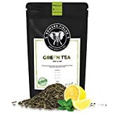 Edward Fields Tea  - Té verde orgánico a granel con Menta y Limón. Té bio recolectado a mano con ingredientes y aromas naturales, 100 gramos, China.