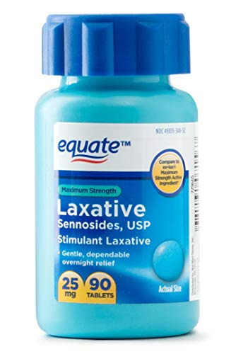 Equate - Maximum Strength Laxative, Sennosides Stimulant Laxative, 25 Milligram, 90 Count