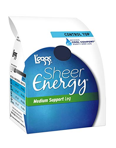 L'eggs Sheer Energy Control Top44; Reinforced Toe Pantyhose 6-Pack❗️Ships directly from Hanes❗️