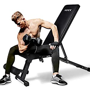 VEICK Weight Bench Adjustable for Strength Training,Workout Bench for Exercise Fitness Home Gym Weight lifting Bench Press,Sit Up Bench