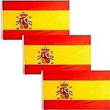 JEVX Banderas de España 90x60cm 3 Unidades para Colgar en M