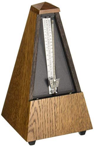 Wittner 903830 Metronomo Forma Piramidale Cassa Legno Colore Marrone Quercia Satinato