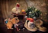 WYTTT Puzzle Adulte 1500 Pièces Paysage Puzzle en Bois Puzzle en 3D Chaussures Et Cadeaux Hamster DIY Objets De Collection Décoration De La Maison Moderne,87X57Cm
