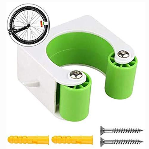 ZUYOKI Small Bicycle Rack Storage Buckle,Mountain Bike Road Bike Vertical Storage Holder Clip,Easy To Install MTB Bike/Green (Green, MTB Bike)