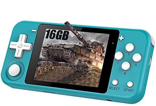 GEQWE Consolas De Videojuegos Portátiles Retro De 3 Pulgadas Juegos Clásicos Incorporados Batería Recargable Consolas De Juegos Portátiles De Estilo Portátil, Niños
