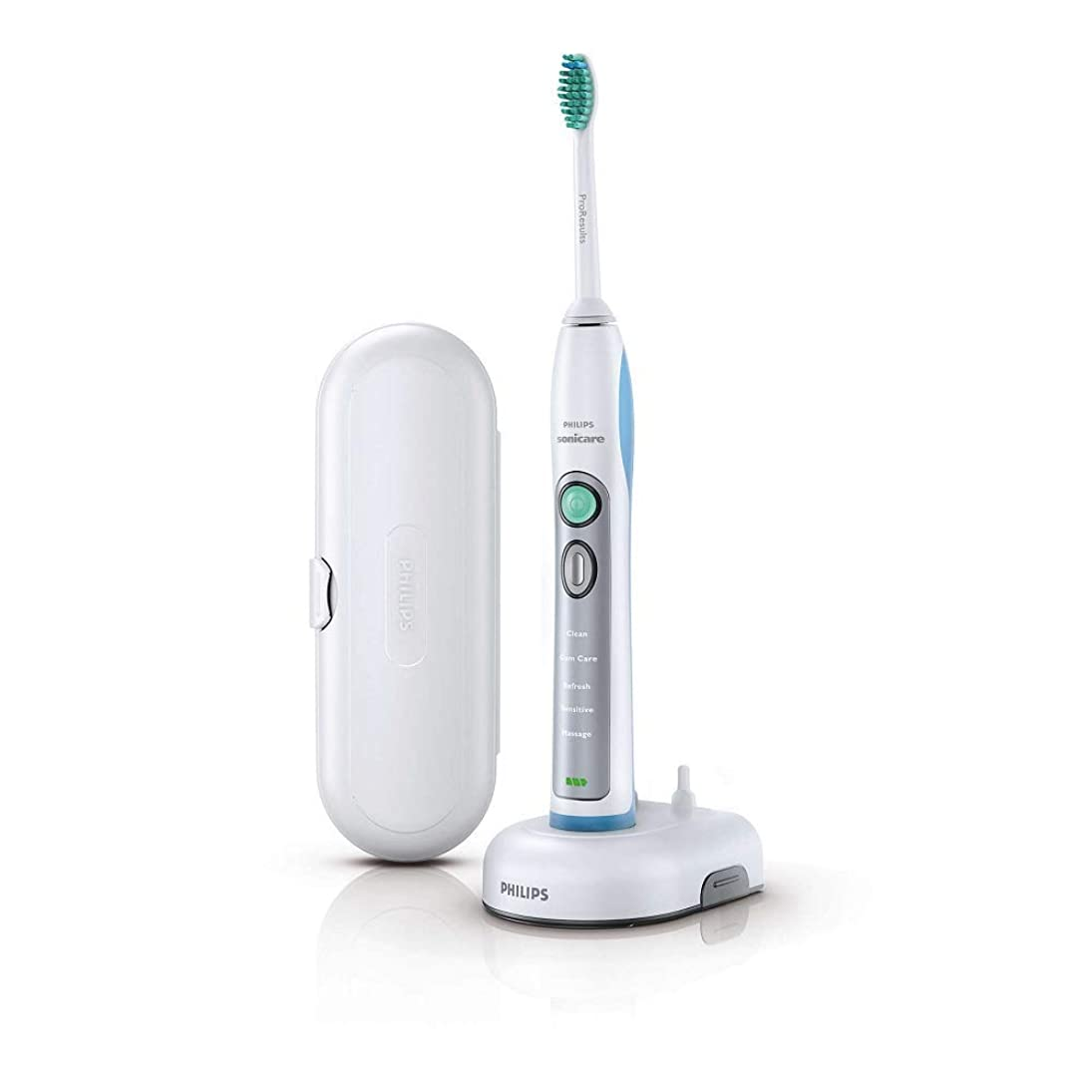 コーンウォール成分チョークPhilips HX6921 Sonicare FlexCare+ Electric Toothbrush Free Volt White & Sky Blue [並行輸入品]