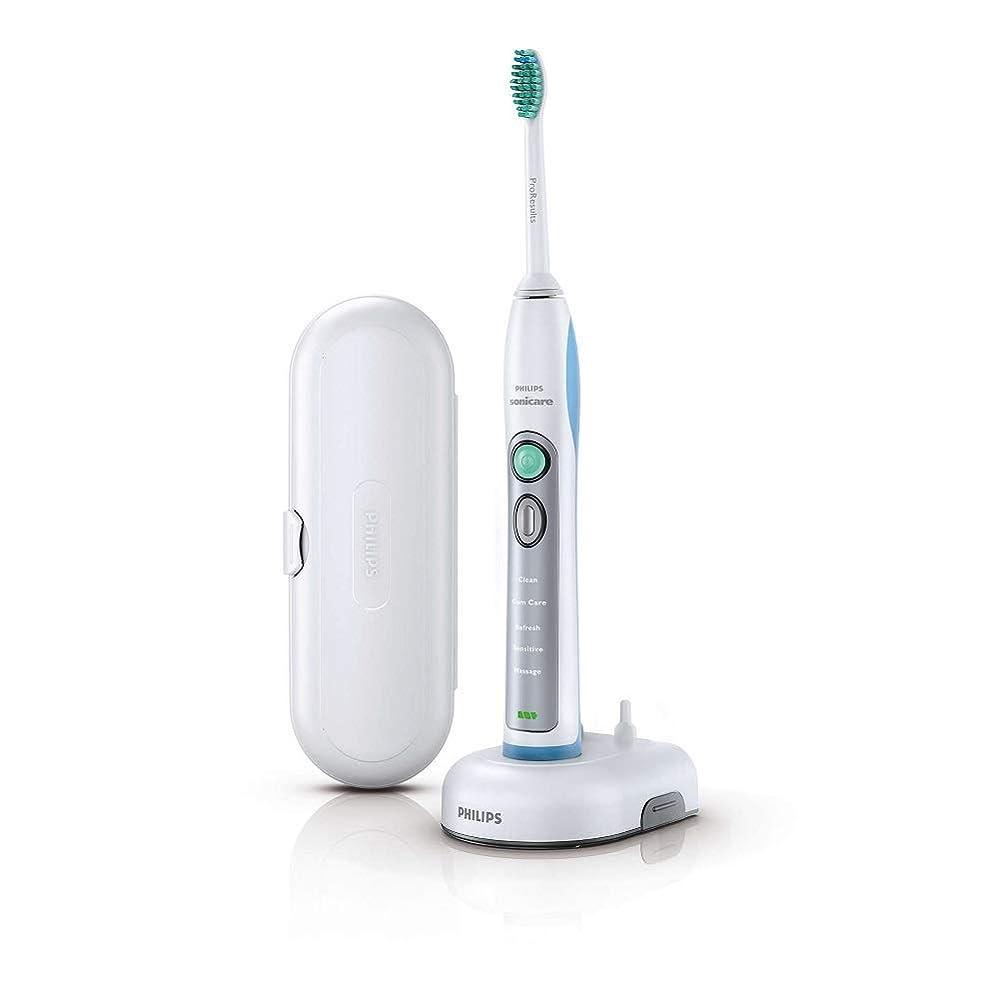 賛辞無傷皮肉なPhilips HX6921 Sonicare FlexCare+ Electric Toothbrush Free Volt White & Sky Blue [並行輸入品]
