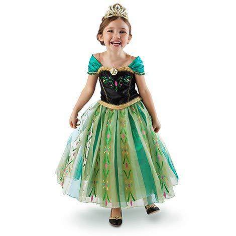 Disney Store - Disfraz original de princesa Anna Frozen - El Reino de hielo para niña de 5 a 6 años, primera edición