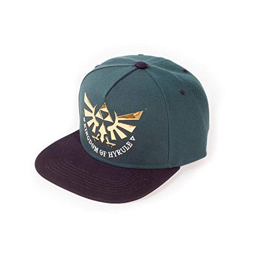 The Legend of Zelda Unisex Kingdom of Hyrule Snapback Baseball Cap, Grün (Green Green), One Size