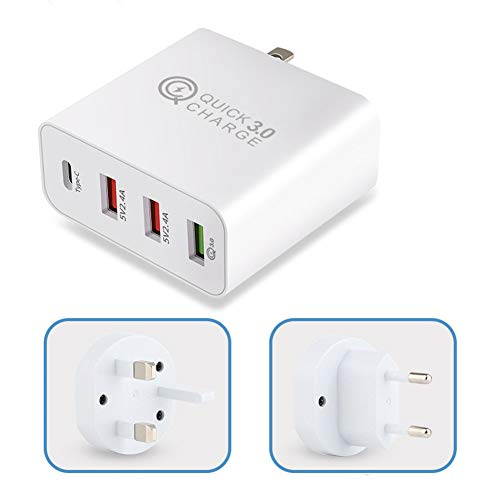 N/A Best for USB Travel Charger 36W Quick Charge Type C for Samsung iPhone Huawei Tablet Fast Wall Adaptor US Plug