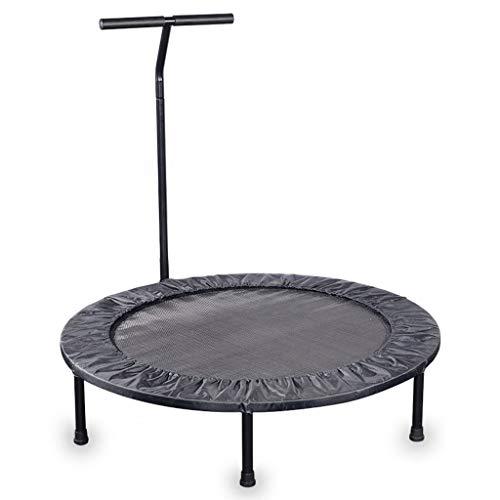 DUOER home-Trampolines d'extérieur Trampoline d'intérieur Bounce Mini pour Adulte de Fitness Sportif avec poignée de stabilité en T, diamètre 100 cm (Color : Black)