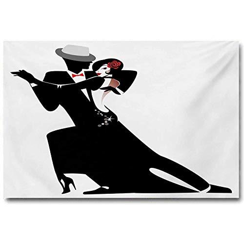jiyanling Girls Poster Art and Woman Partners Romantic Dance Tango Waltz Love Valentines Rhythm Music Art 2020 Black White L24 x H36 Inch