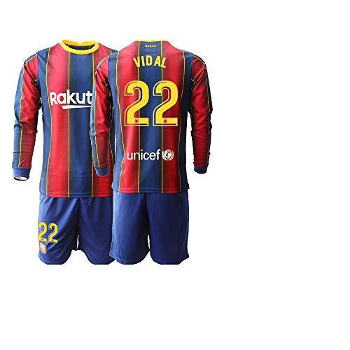 JEEG 20/21 Kinder Vidal 22# Fußball Trikot Jugend Langarm Trainings Anzug (Kinder Größe 4-13 Jahre) (26)