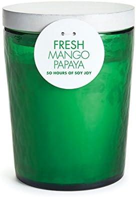 Napa Fresh Mango Papaya Soy Wax Scented Jar Candle Home product image
