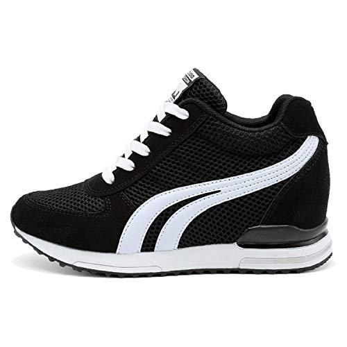 AONEGOLD® Zapatillas de Cuña para Mujer Zapatillas de Deporte Zapatillas Altas...